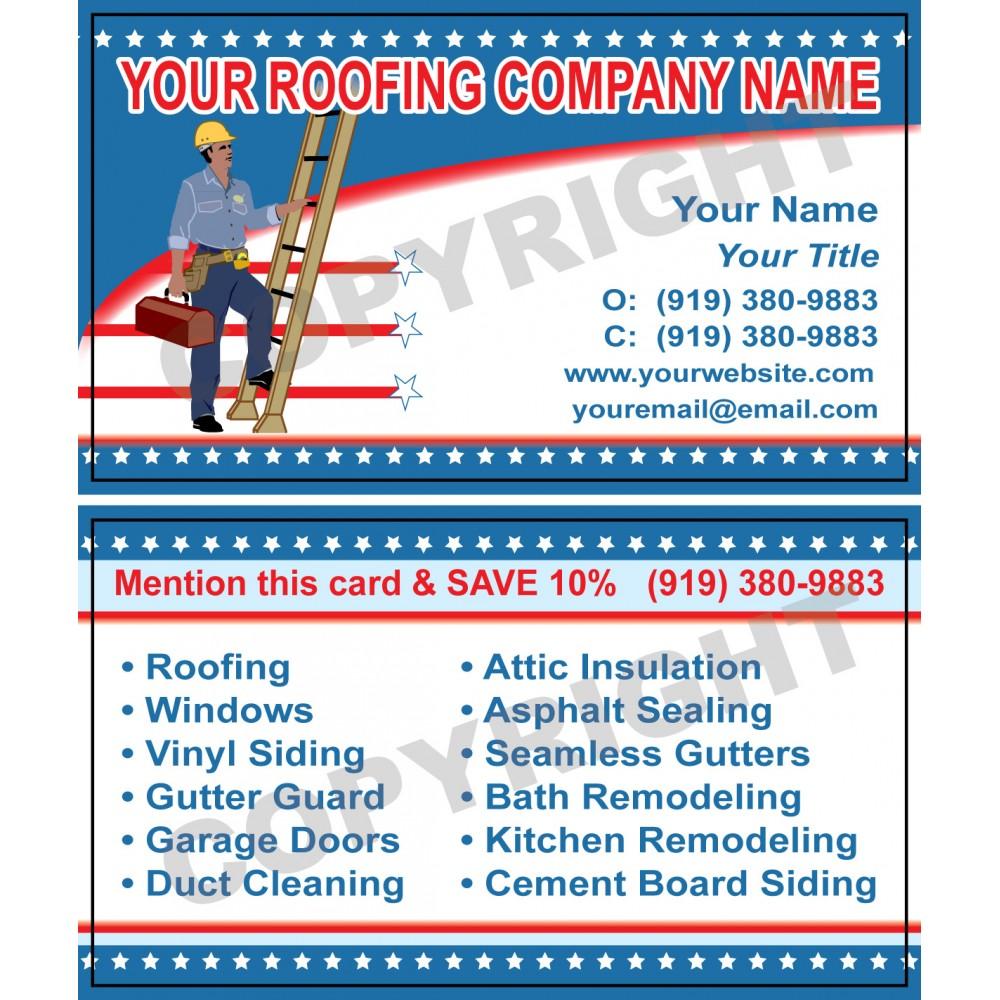 Roofing Business Card 2 Hvac Sticker