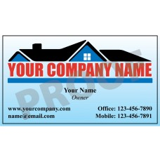 Roofing Business Card Magnet #11