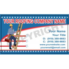 Roofing Business Card Magnet #2
