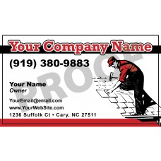 Roofing Business Card Magnet #3
