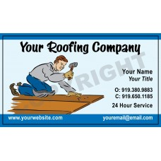 Roofing Business Card Magnet #4