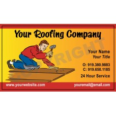 Roofing Business Card Magnet #5