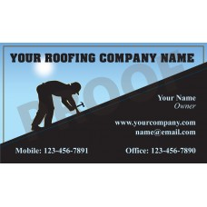 Roofing Business Card Magnet #8