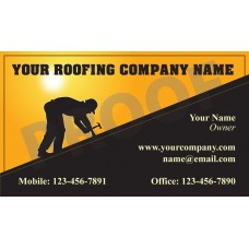 Roofing Business Card Magnet #9